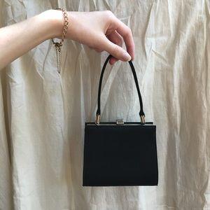 Black Satin Mini Bag